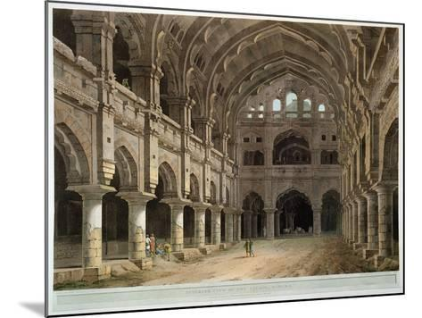 "Interior of the Palace, Madura, Plate XV from ""Oriental Scenery,"" Published 1798-Thomas Daniell-Mounted Giclee Print"
