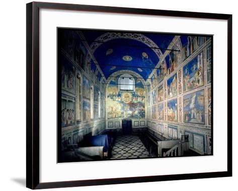 View of the Chapel Looking Towards the Last Judgement, circa 1305-Giotto di Bondone-Framed Art Print