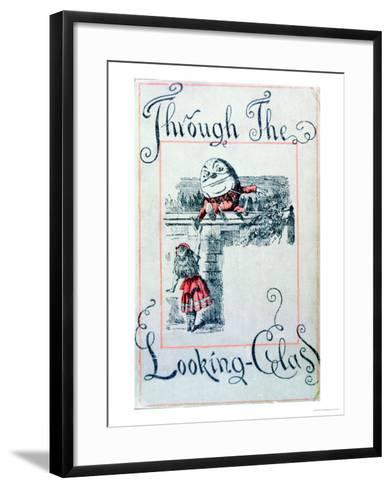 """Alice and Humpty Dumpty, Cover Illustration for """"Alice Through the Looking-Glass""""-John Tenniel-Framed Art Print"""