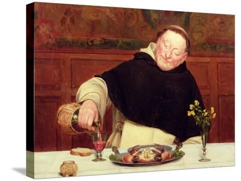 The Monk's Repast-Walter Dendy Sadler-Stretched Canvas Print