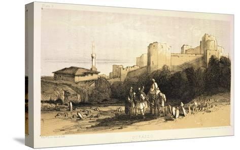 "Durazzo, from ""Journals of a Landscape Painter in Albania and Greece,"" Published 1851-Edward Lear-Stretched Canvas Print"