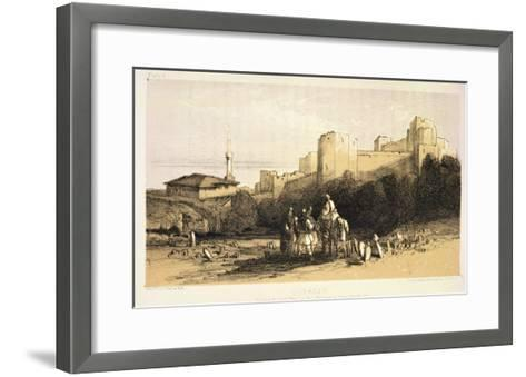 "Durazzo, from ""Journals of a Landscape Painter in Albania and Greece,"" Published 1851-Edward Lear-Framed Art Print"