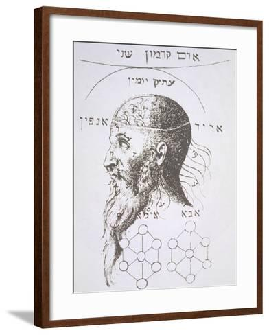 "The Head of Adam Kadmon, Copy of an Illustration from ""Kabbala Denudata""--Framed Art Print"