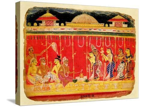 The Marriage of Krishna's Parents--Stretched Canvas Print