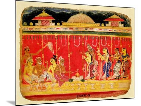 The Marriage of Krishna's Parents--Mounted Giclee Print