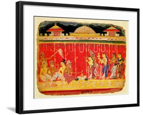 The Marriage of Krishna's Parents--Framed Art Print