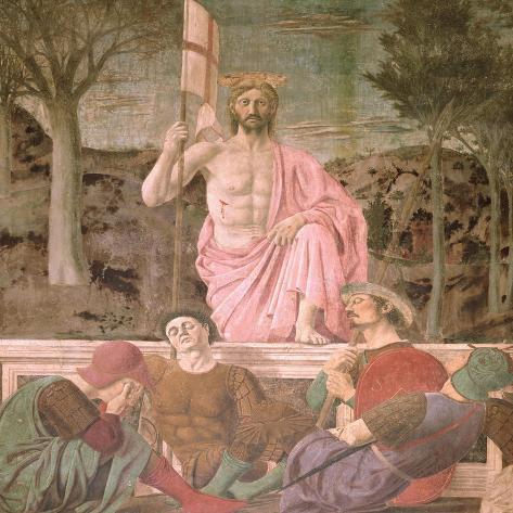 The Resurrection, circa 1463-Piero della Francesca-Stretched Canvas Print