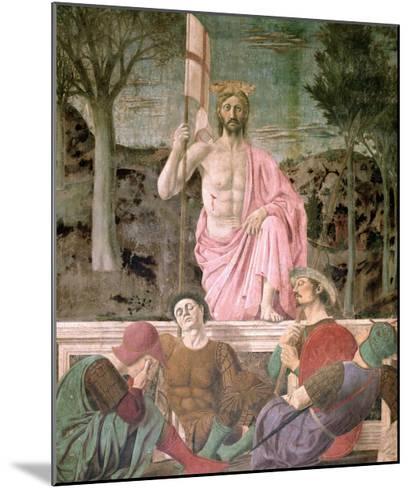 The Resurrection, circa 1463-Piero della Francesca-Mounted Giclee Print