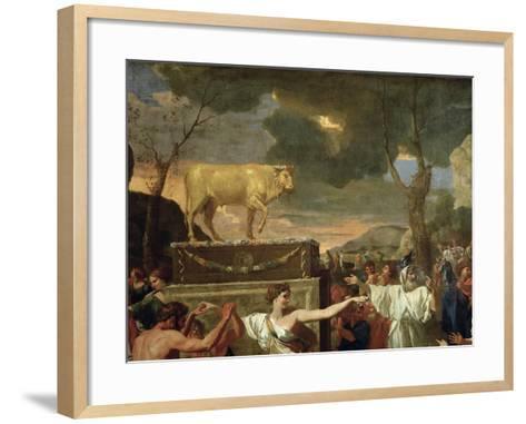The Adoration of the Golden Calf, Before 1634 (Detail)-Nicolas Poussin-Framed Art Print