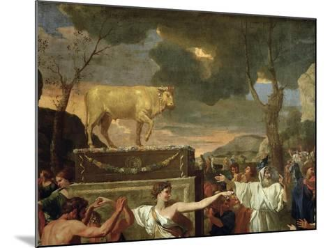 The Adoration of the Golden Calf, Before 1634 (Detail)-Nicolas Poussin-Mounted Giclee Print