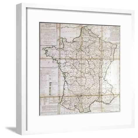 Map of France Divided into Provinces- Cesar Francois Cassini De Thury-Framed Art Print