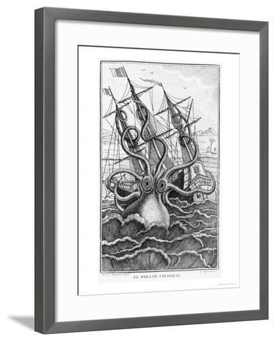 "Giant Octopus, Illustration from ""L'Histoire Naturelle Generale Et Particuliere Ses Mollusques""--Framed Art Print"