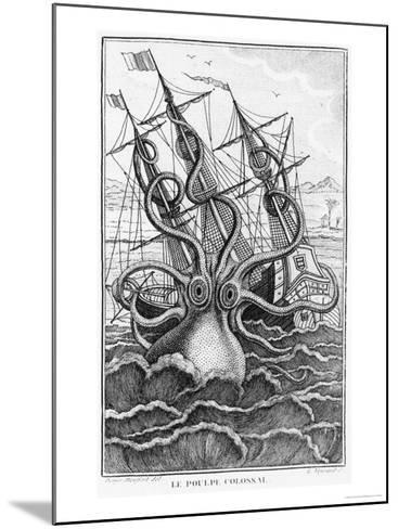 """Giant Octopus, Illustration from """"L'Histoire Naturelle Generale Et Particuliere Ses Mollusques""""--Mounted Giclee Print"""
