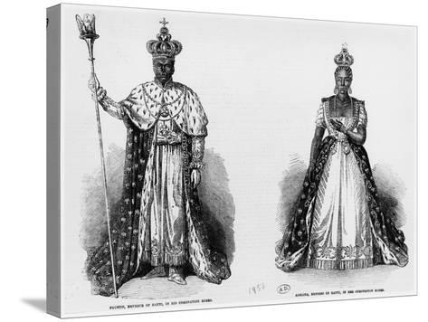 General Faustin Soulouque as Emperor of Haiti, and Adelina as Empress of Haiti, 1856--Stretched Canvas Print