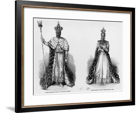 General Faustin Soulouque as Emperor of Haiti, and Adelina as Empress of Haiti, 1856--Framed Art Print