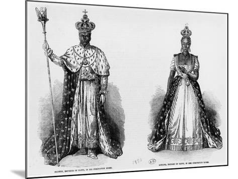 General Faustin Soulouque as Emperor of Haiti, and Adelina as Empress of Haiti, 1856--Mounted Giclee Print