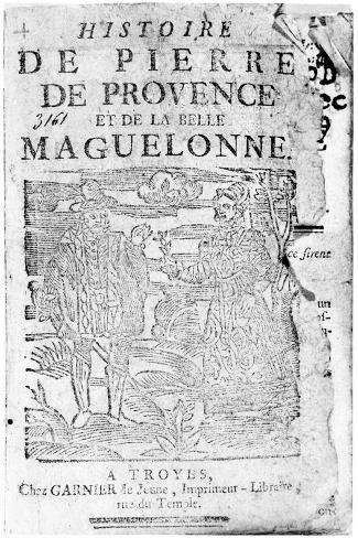 Story of Pierre De Provence and the Belle Maguelonne, Bibliotheque Bleue, Troyes, 1738--Stretched Canvas Print