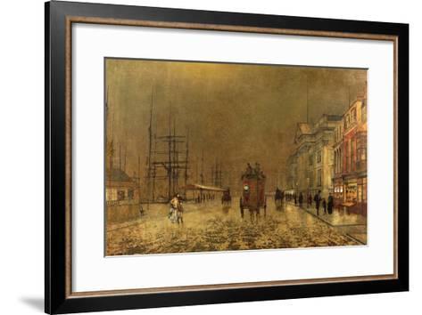 A Liverpool Street-John Atkinson Grimshaw-Framed Art Print