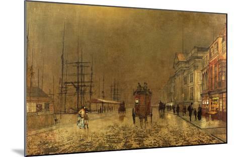A Liverpool Street-John Atkinson Grimshaw-Mounted Giclee Print