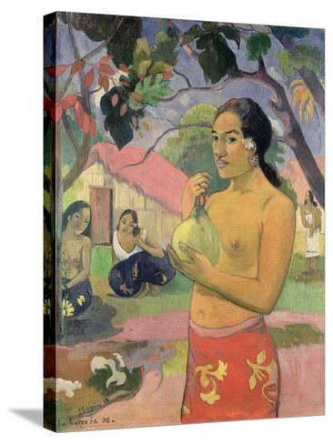 Woman with Mango, 1893-Paul Gauguin-Stretched Canvas Print