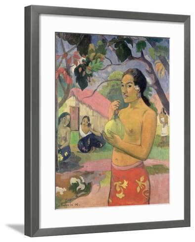 Woman with Mango, 1893-Paul Gauguin-Framed Art Print
