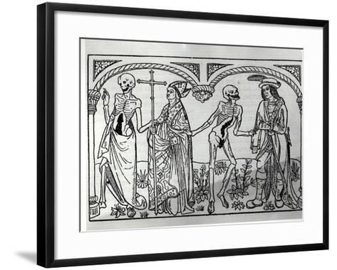 Death Taking the Bishop and the Nobleman, from the Danse Macabre, Published Paris, 1485-Guy Marchant-Framed Art Print