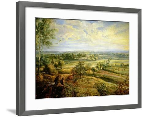 An Autumn Landscape with a View of Het Steen in the Early Morning, circa 1636 (Detail)-Peter Paul Rubens-Framed Art Print