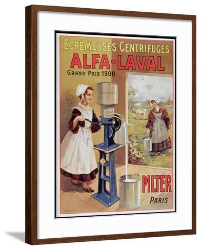 Advertisement for Alfa-Laval Cream Separators, 1905--Framed Art Print