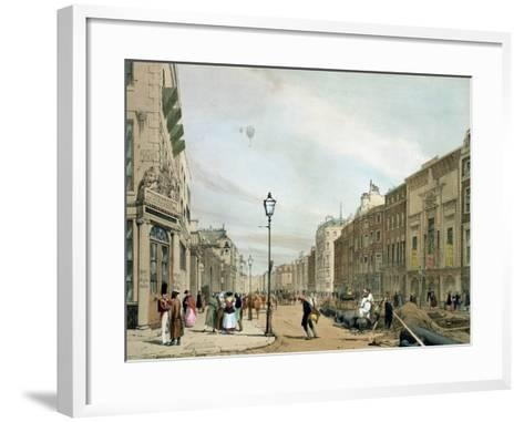 """Piccadilly from the Corner of Old Bond Street, from """"London as it Is""""-Thomas Shotter Boys-Framed Art Print"""