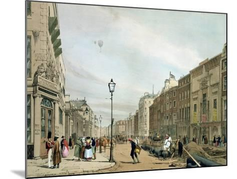 """Piccadilly from the Corner of Old Bond Street, from """"London as it Is""""-Thomas Shotter Boys-Mounted Giclee Print"""