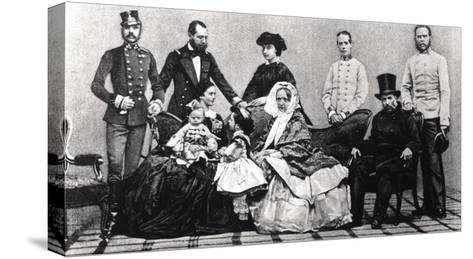 The Austrian Imperial Family, 1860--Stretched Canvas Print