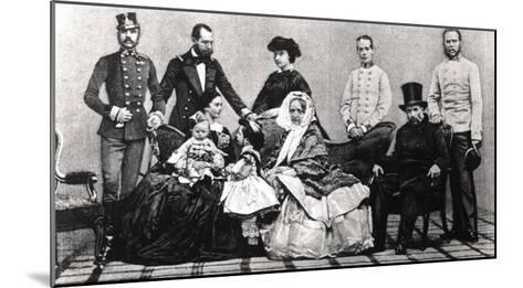 The Austrian Imperial Family, 1860--Mounted Giclee Print
