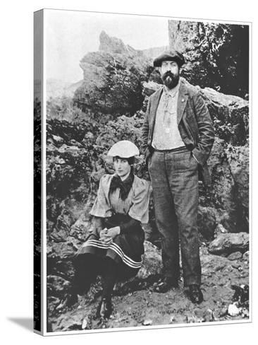 Colette and Willy at Belle-Ile, Summer 1894--Stretched Canvas Print