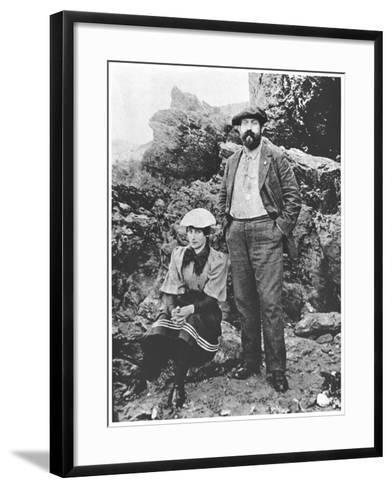 Colette and Willy at Belle-Ile, Summer 1894--Framed Art Print
