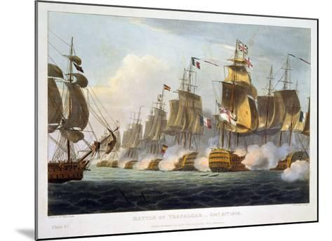 """Battle of Trafalgar, October 21st 1805, from """"The Naval Achievements of Great Britain""""-Thomas Whitcombe-Mounted Giclee Print"""