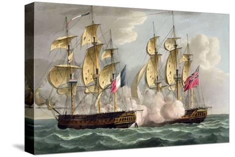 Capture of L'Immortalite, October 20th 1798-Thomas Whitcombe-Stretched Canvas Print