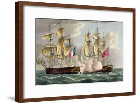 Capture of L'Immortalite, October 20th 1798-Thomas Whitcombe-Framed Art Print