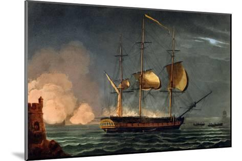 Cutting out of the Hermione from the Harbour of Porto Cavallo, October 25th 1799-Thomas Whitcombe-Mounted Giclee Print