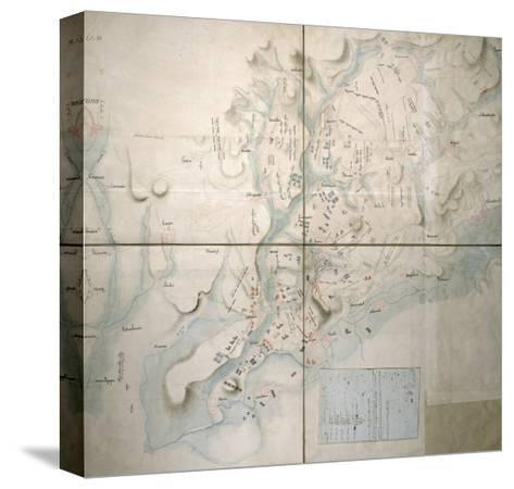 Map for the Battle of Austerlitz, December 2nd, 1805--Stretched Canvas Print