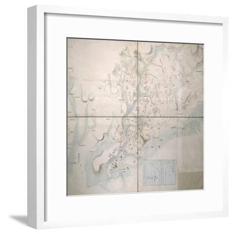 Map for the Battle of Austerlitz, December 2nd, 1805--Framed Art Print