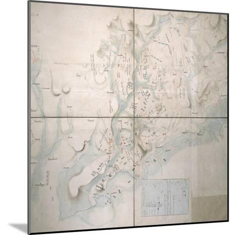 Map for the Battle of Austerlitz, December 2nd, 1805--Mounted Giclee Print