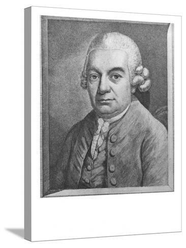 Portrait of Carl Philipp Emanuel Bach--Stretched Canvas Print