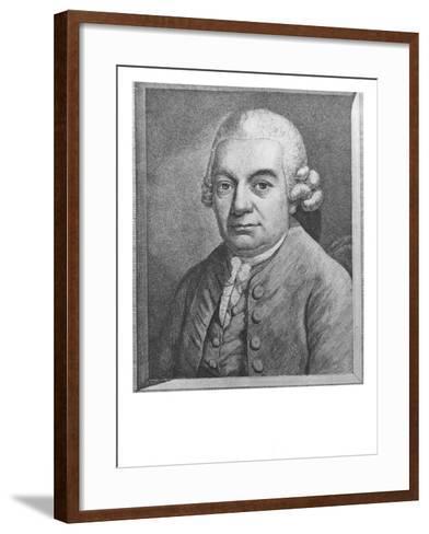 Portrait of Carl Philipp Emanuel Bach--Framed Art Print