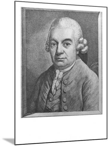 Portrait of Carl Philipp Emanuel Bach--Mounted Giclee Print