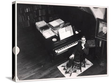 Alfred Cortot--Stretched Canvas Print