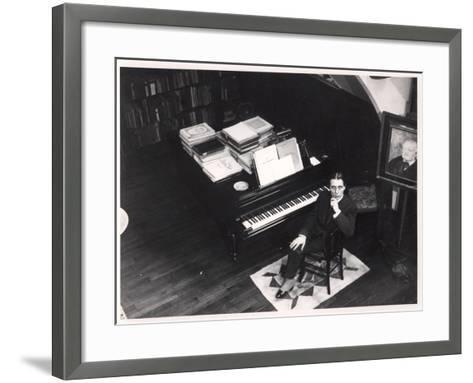 Alfred Cortot--Framed Art Print