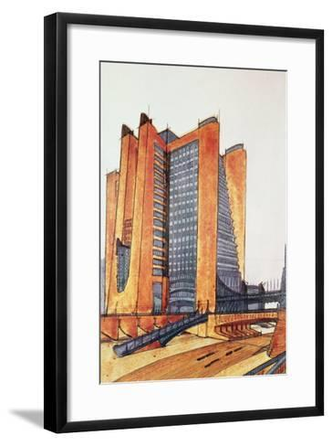 Study Design for a New Town, 1914-Antonio Sant'Elia-Framed Art Print