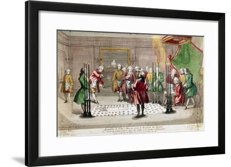 Masonic Ceremony in France--Framed Art Print