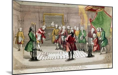 Masonic Ceremony in France--Mounted Giclee Print
