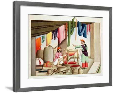 Dyer in India--Framed Art Print